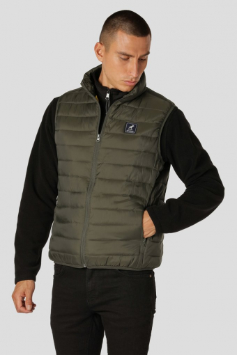 Duncan Recycled Vest Beetle Green