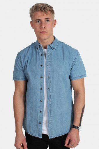 Johan Denim Shirt S/S Light Blue