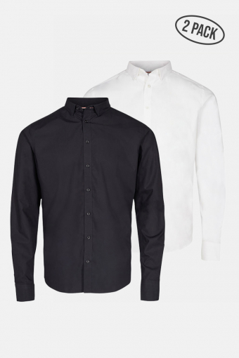 JJJOE SHIRT LS 2 PACK Black
