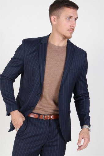 Slim Aden Stripe Blazer Grey/Blue