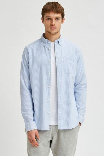 SLHREGRICK-OX FLEX SHIRT LS S NOOS Skyway Stripes