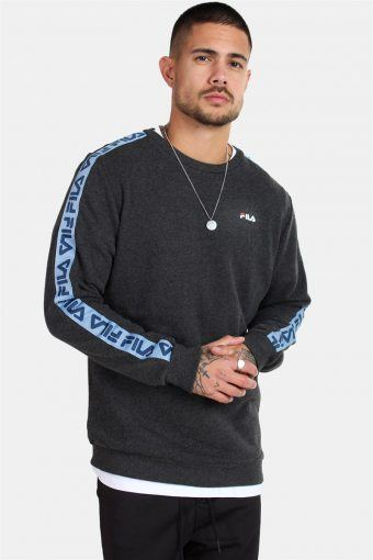 MEN Aren Crew Sweatshirts Dark Grey Melange