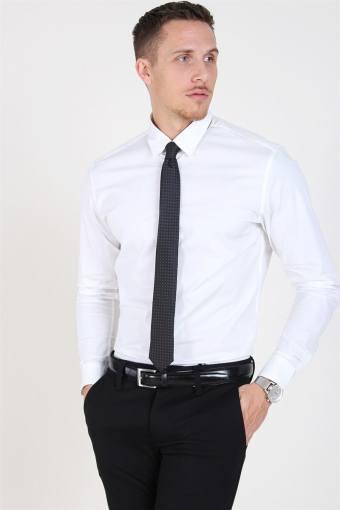 Slim-Michigan LS Shirt Bright White