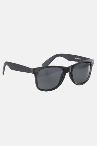 Fashion 1398 Wayfarer Sunglasses Black Rubber Grey Lens