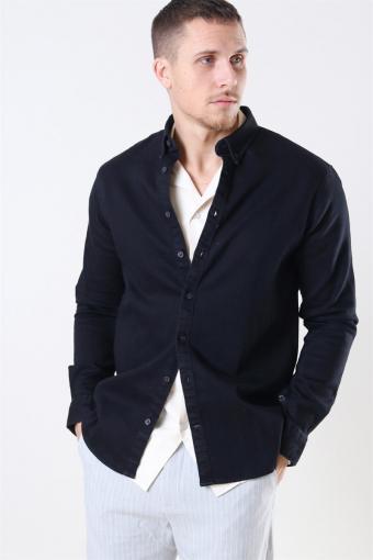 Johan Denim Shirt Black