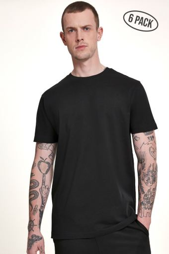 Basic Tee 6-Pack Black