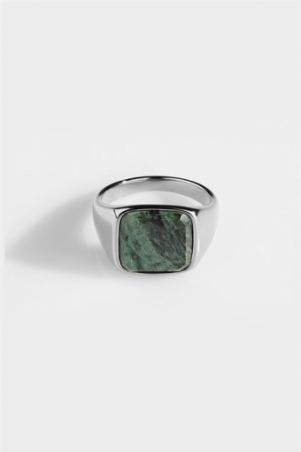 Rengas Verde Signature Green Marble Silver