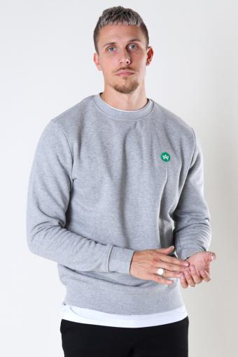 Lars Organic/Recycled sweat crew Grey mel