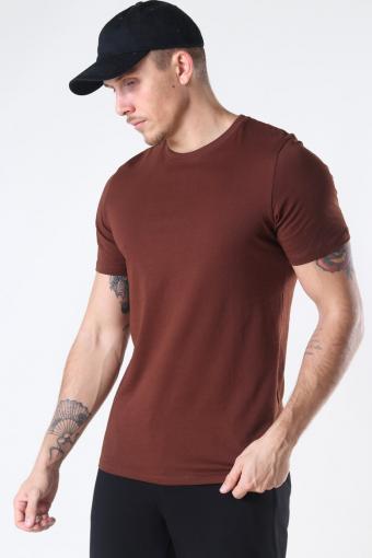 Organic Basic T-shirt Chocolate Fonda
