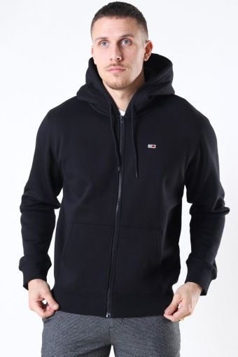 Tommy Jeans Fleece Zip Hoodie Black