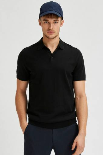 SLHBERG SS POLO NECK B NOOS Black
