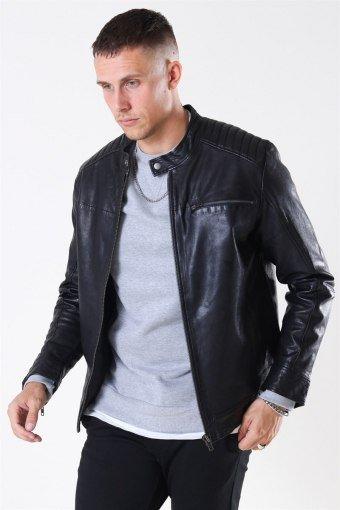 Fonda Leather Jacket Black