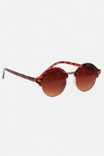 Fashion 1512 Brown Havana/Gold Solbrille Brown Gradient