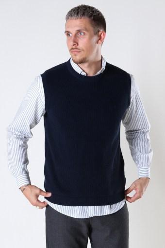 Basic Organic Knit Vest Navy