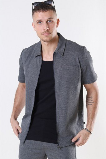 Clean Cut Arrow Shirt S/S Dark Grey
