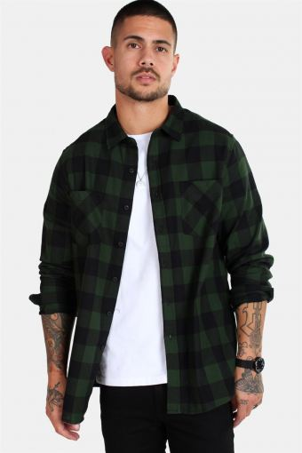 TB297 Checked Flanell Shirt Black/Forest