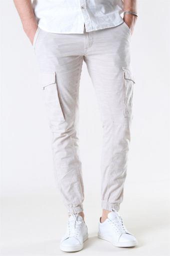 Paul Flake Linen Cargo Pants Silver Birch