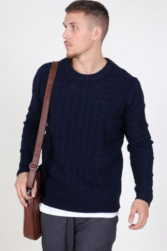 Pigalle Cable Knit Dark Navy