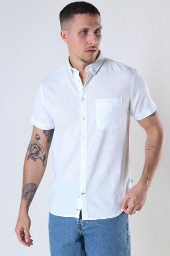Johan Linen S/S shirt White