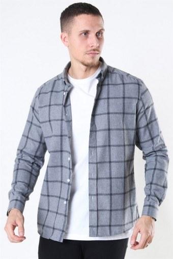 Clean Cut Sälen Flannel 1 Shirt Grey
