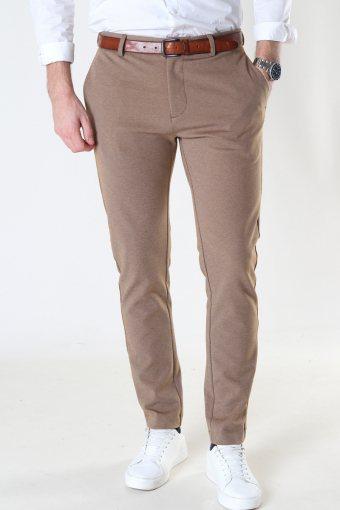 Milano Jersey Pants Dark Camel Mel