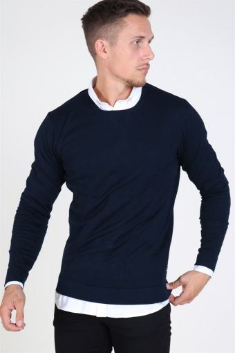 Tailored & Originals Mont O-neck Knit Insignia Blue