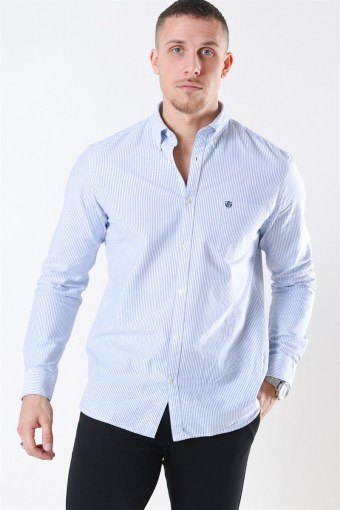 Collect Shirt White/Light Blue Stripe