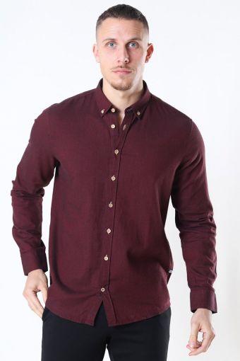 Johan Diego Cotton Shirt Bordeaux Mel