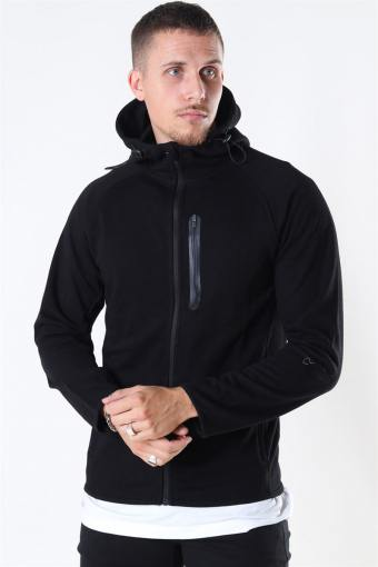 Sport Sweat Zip Hoodie Black