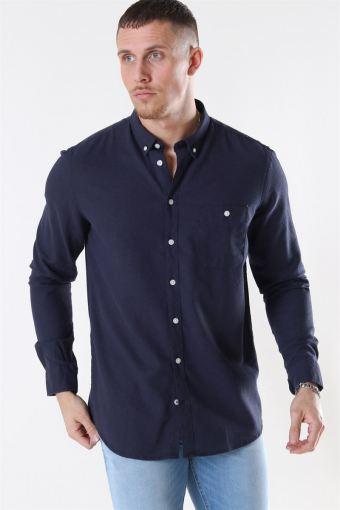 Johan Linen Shirt Navy