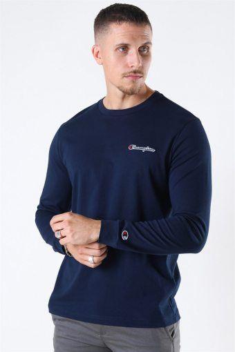 Crewneck Long Sleeve T-Shirt Navy