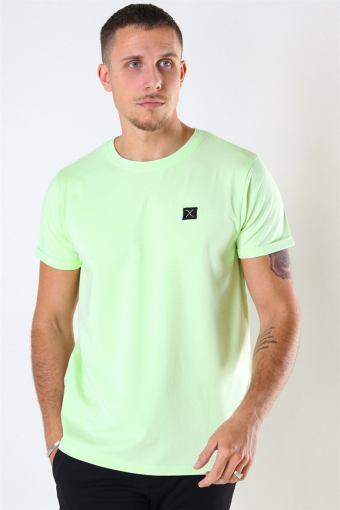 Clean Cut Basic Organic T-shirt Neon Green