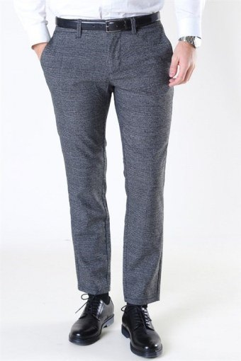 Mark Pants Check Medium Grey Melange