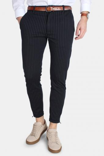 Pisa Chino Pinstripe Pants Navy Stripe