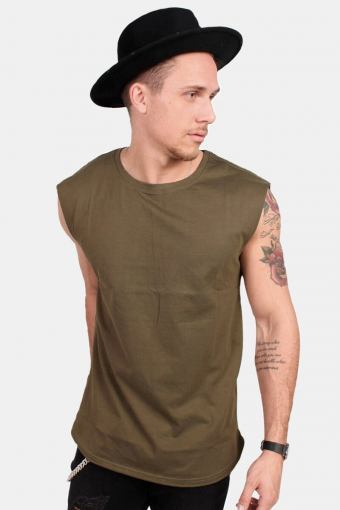 Kelloban Classics TB1562 Open Edge Sleeveless T-shirt Olive