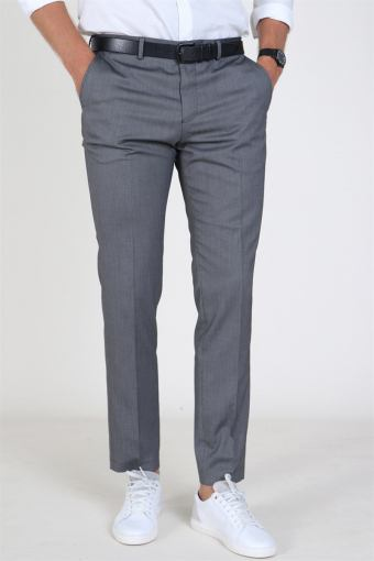 Slim Mylo Logan Structure Pants Dark Grey Melange