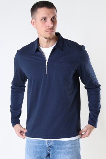 JPRBLAPETROL SWEAT HALF ZIP New Navy REG FIT