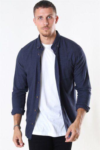 Classic Melange Shirt Navy Blazer