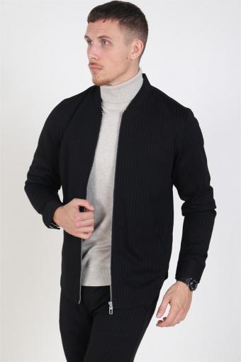 Clean Cut Milano Pinstripe jakke Black