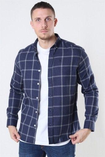Clean Cut Sälen Flannel 1 Shirt Navy