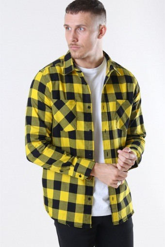 TB297 Checked Flanell Shirt Black/Honey