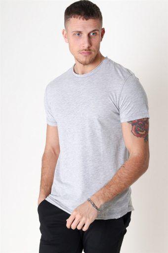 Konrad Slub S/S T-shirt Light Grey Melange
