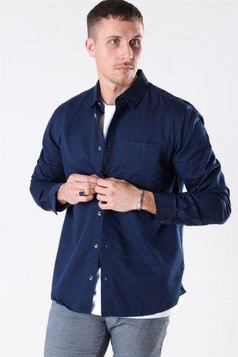 Michael Tencel Shirt Dress Blues