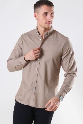 Clean Cut Oxford Plain Shirt Camel