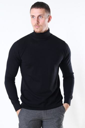 Merino Wool Roll Neuloa Black