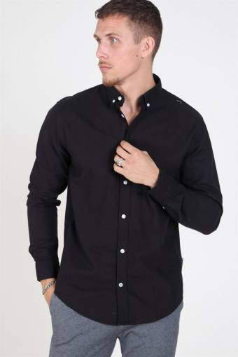 Johan Oxford Washed Shirt Black