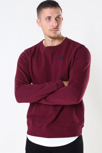 Clean Cut Basic Organic Crewneck Wine