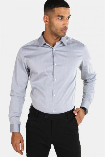 Non Iron Shirt L/S Grey Melange