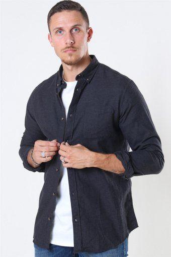 Classic Melange Shirt Dark Grey Melange