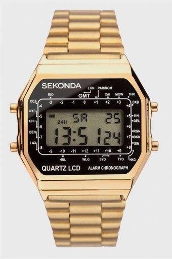 1817 Classic Gold Plated Bracelet Digital Ur
